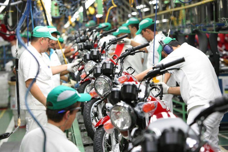 Produção de motocicletas registrou queda em julho